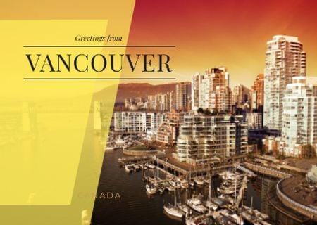 Template di design Vancouver city view Postcard