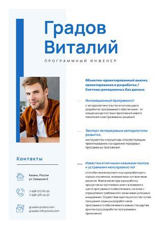 Software Engineer Professional Skills and Experience  Resume – шаблон для дизайна
