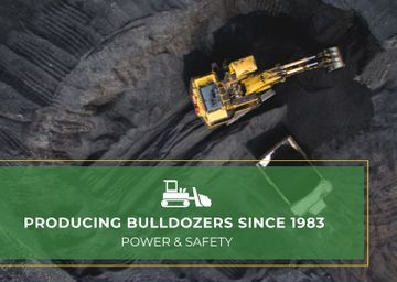 Bulldozers Ad with Excavator on Construction Site