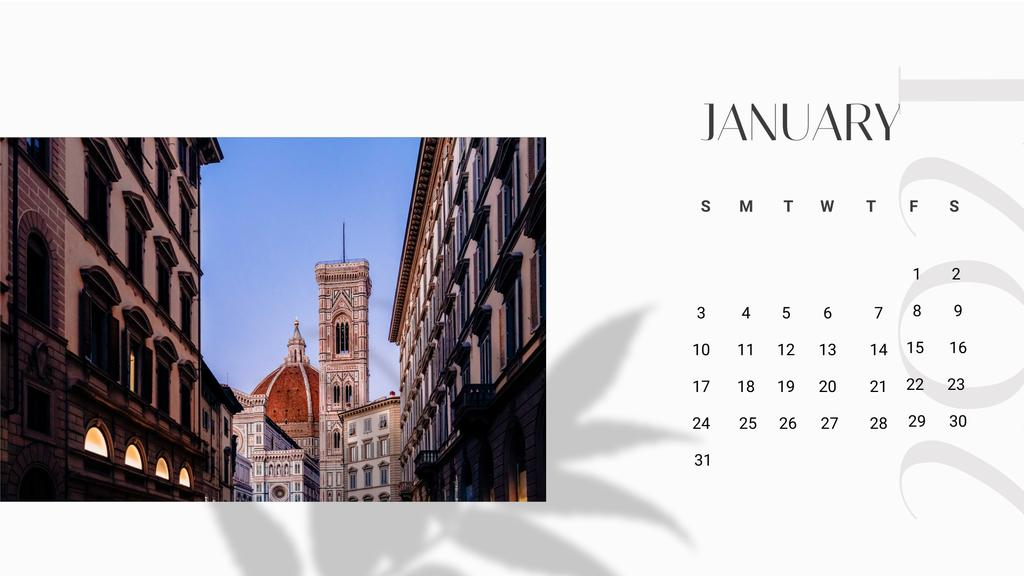 Template di design Italy famous sightseeing spots Calendar