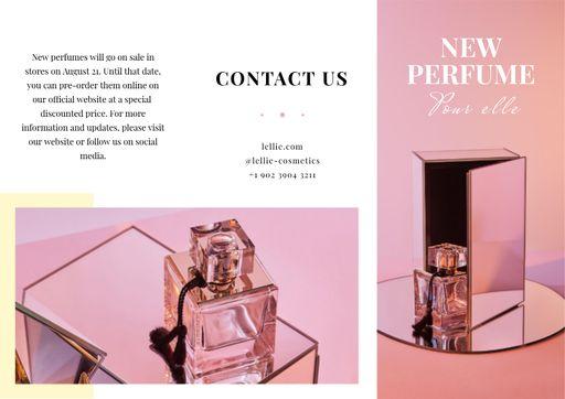 Luxurious Perfume Ad In Pink Brochure