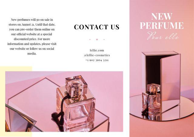 Template di design Luxurious Perfume Ad in Pink Brochure
