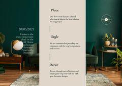 Stylish Interior in Green Tones