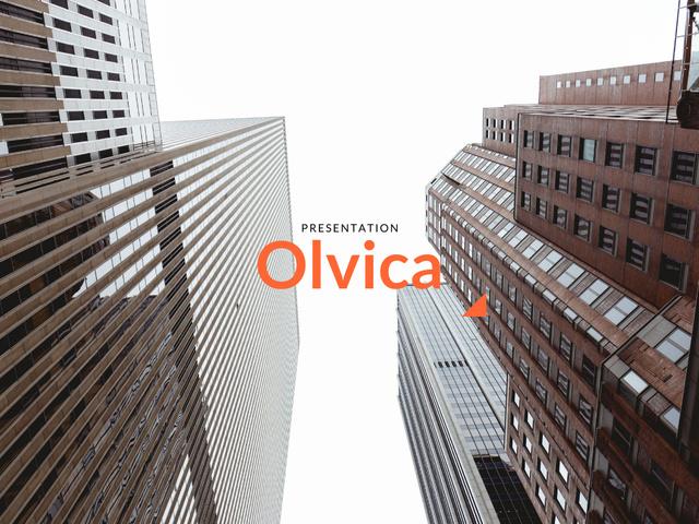 Plantilla de diseño de Branding Agency Services Offer with Modern Buildings Presentation