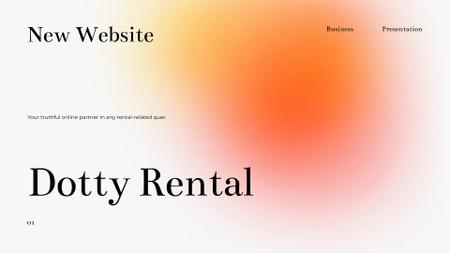Ontwerpsjabloon van Presentation Wide van Rental Company promotion