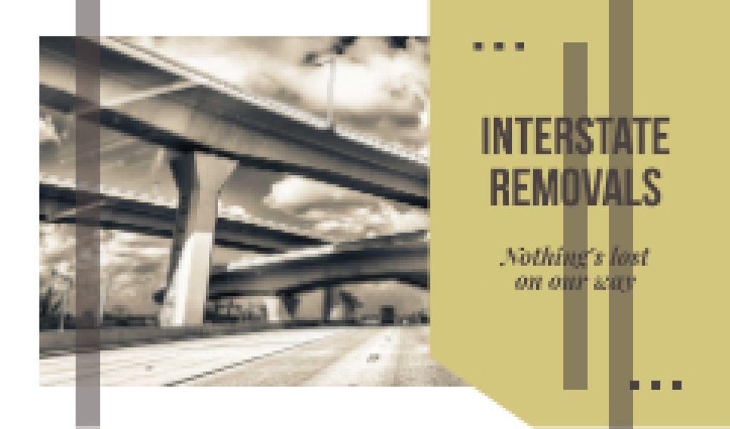 Ontwerpsjabloon van Business card van City Bridge Construction