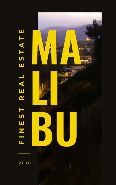 Modèle de visuel Real Estate Guide Malibu City View - Book Cover
