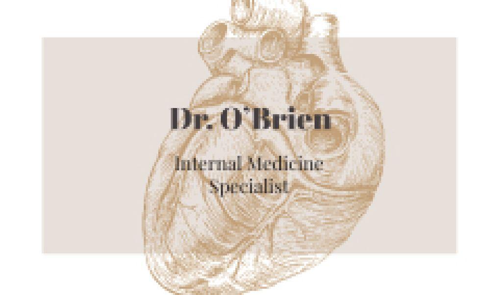 Plantilla de diseño de Human Heart Sketch Business card