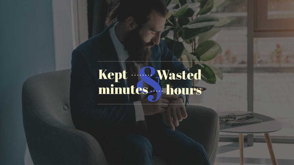 Businessman looking on watches — Crea un design