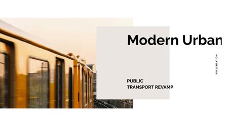 Public Transport with Train in city Presentation Wide Modelo de Design