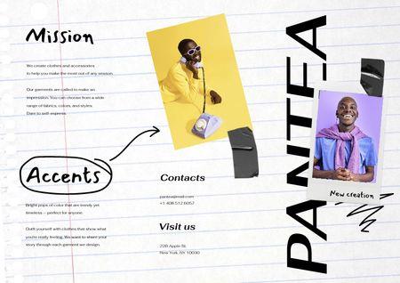 Ontwerpsjabloon van Brochure van Young Men in Stylish Outfits