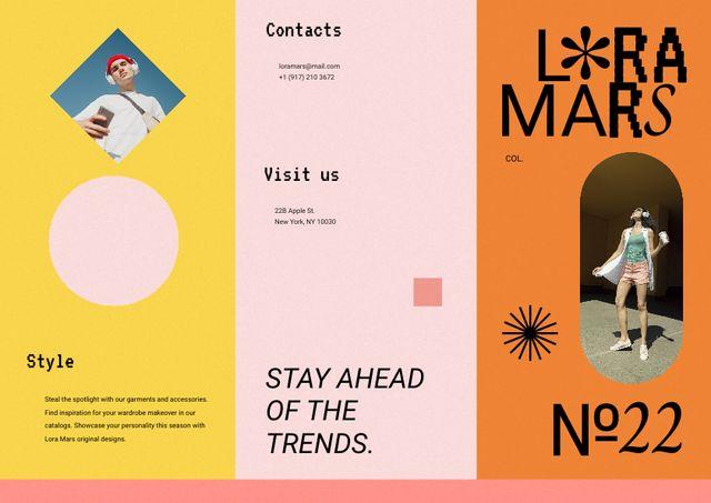 Fashion Ad with Stylish Young People Brochure – шаблон для дизайна