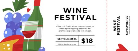 Wine Festival with Cheese and Bottle Ticket – шаблон для дизайну