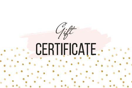 Cosmetics Offer on golden glitter Gift Certificate – шаблон для дизайну