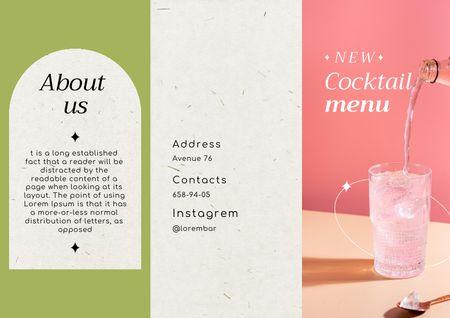 Ontwerpsjabloon van Brochure van New Cocktail Menu Announcement