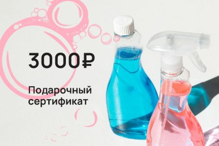 Cleaning Services offer with Detergents Gift Certificate – шаблон для дизайна