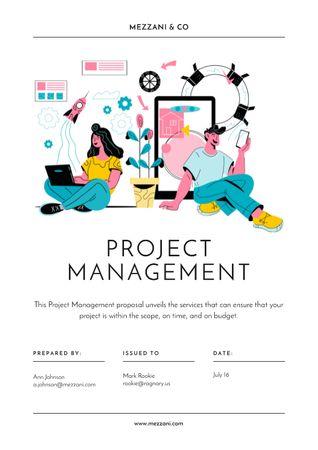 Modèle de visuel Business project managing offer - Proposal