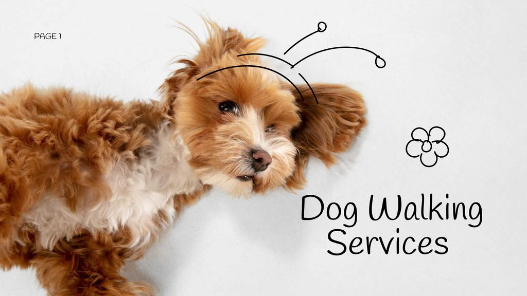 Dog Walking Services promotion —デザインを作成する