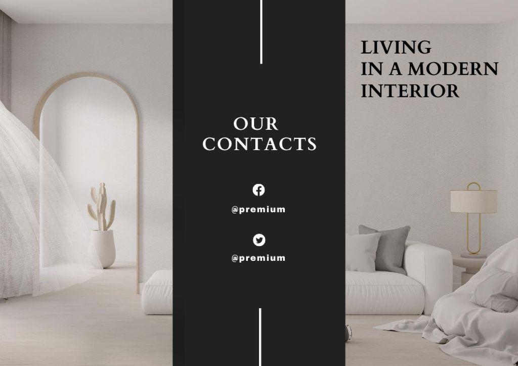Home Decor Offer with Modern Room Interior Brochure – шаблон для дизайна