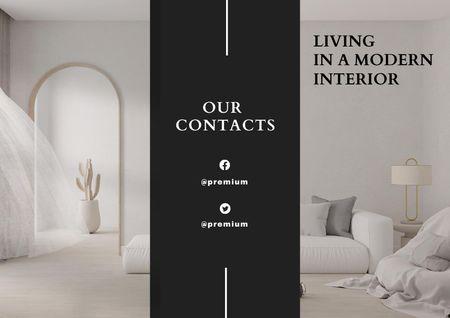 Home Decor Offer with Modern Room Interior Brochure Modelo de Design